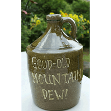 """Good - Old Mountain Dew Jug"""