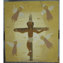 "Clay Paintings ""Jesus on the Cross"""