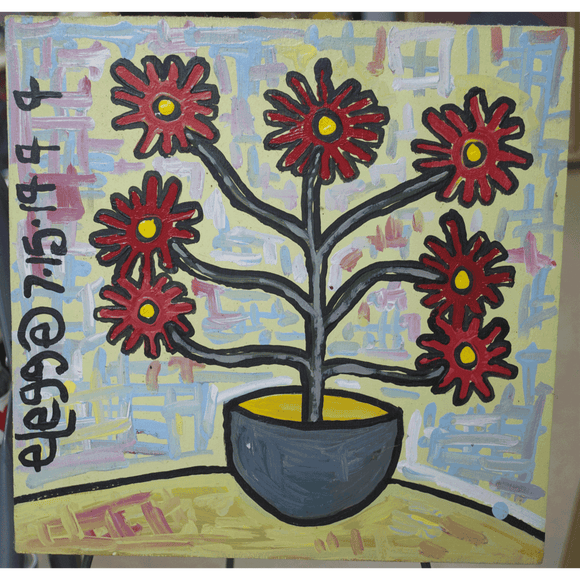 """Vase with Red Flowers"""