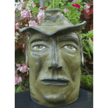 """Rider of the Blue Sage"" Face Jug"