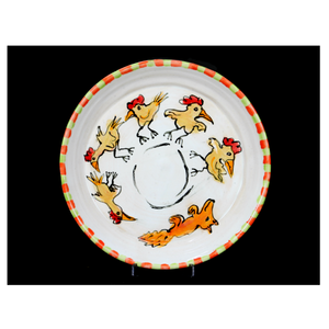 """Fox Chasin' Chickens"" Plate"