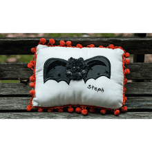 """Black Bat"" Mini Pillow"