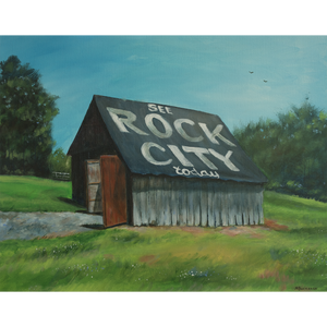 """Barn at Pine Log, See Rock City"""