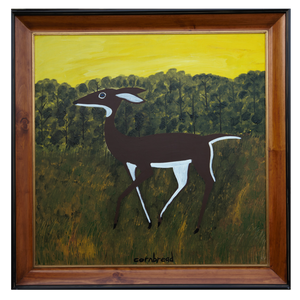 """White Tail Doe"" in Worm Wood Frame"