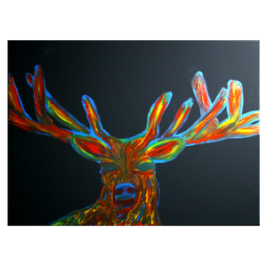 """Big Buck"" Finger Painting"