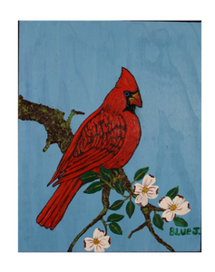 """Cardinal on a Dogwood Branch"""