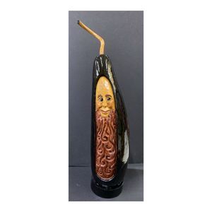 """Metamorphosis"" Black Carved Gourd"