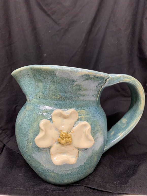 Dogwood Blossom Pitcher in Blue #4753