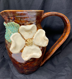 Dogwood Blossom Pitcher in Brown #49