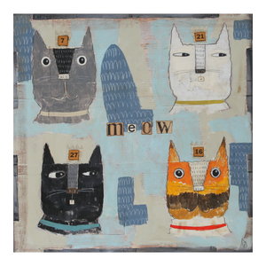 "Cat Heads ""Meow 7, 21, 27 & 14"""