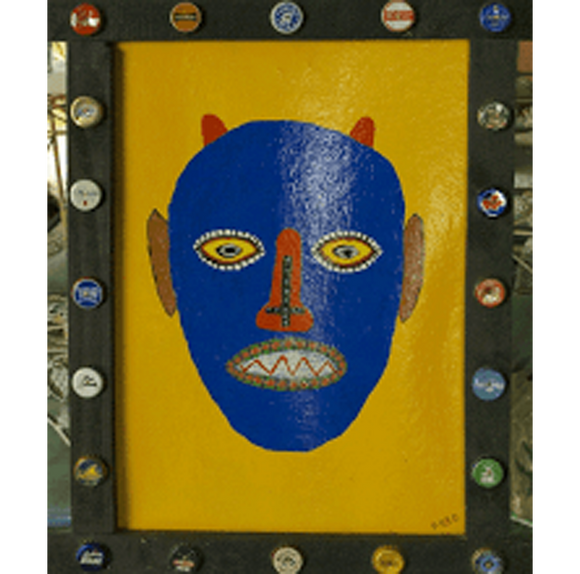 """Blue Mask"" Framed #190"