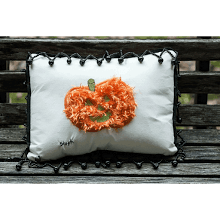 """Pumpkin Mini Pillow"""