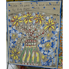 """Flowers in a Blue Background"" back side"