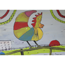 """Rooster on a Fence"""