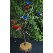 """Money Cardinal & Blue Bird Tree"""