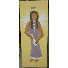 "Clay Paintings ""Angel with Sax"""