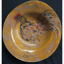"""Cecil the Rooster Platter"""