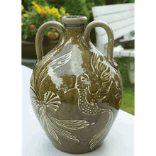 """Humming Bird Double Handle Jug"""
