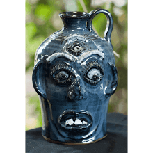 """Blue 3rd Eye Face Jug"" (6th Generation #5))"