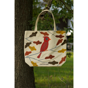 Cardinal in the Oak Parrot Canvas Bag