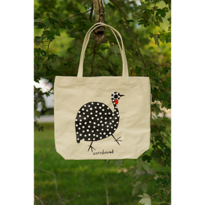 """Guinea Hen on Parrot Canvas Bag"""