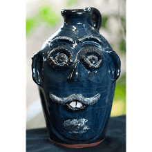 """Blue Face Jug"" (4-04)"