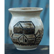 """Etched Barn Vase"""