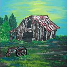 """Barn and Tractor"""
