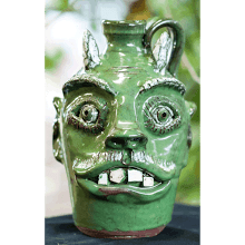 """Green Face Devil Jug"" (5-04)"