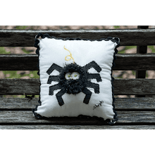 """Black Spider Mini Pillow"""
