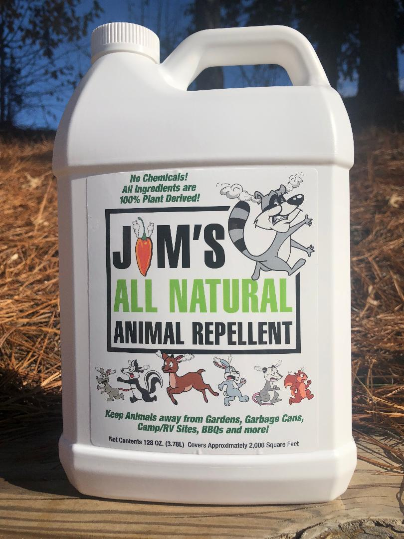 Jim's All Natural Animal Repellent - 1 Gallon F Style Jug - Jim's  All Natural Animal Repellent