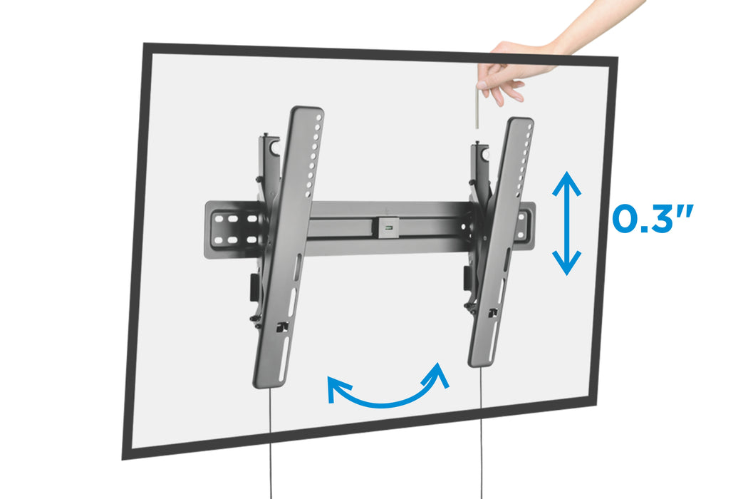 "Starburst SB-3770UST ULTRA SLIM TILT UL Listed TV Wall Mount for 37"" 40"" 43"" 49"" 50"" 55"" 65"" 70"" Flat Panel TV Displays"