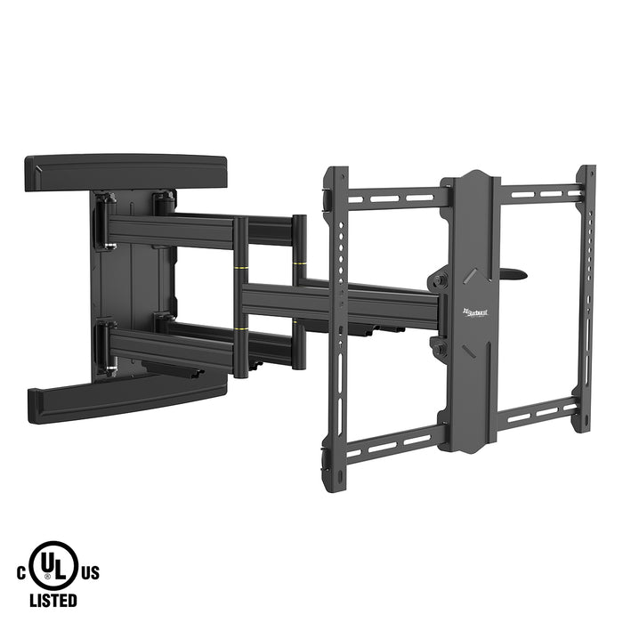 "Starburst SB-3790ART-FM (FLUID MOTION) ADVANCED PREMIUM Full Motion UL Listed TV Wall Mount for 37"" 40"" 43"" 49"" 50"" 55"" 65"" 70"" 75"" 80"" 82"" 85"" 86"" and select 90"" Flat Panel TV Displays"