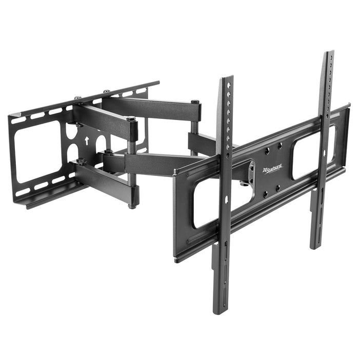 SB-3765ART-D-W Outdoor Articulating Dual Arm TV Wall Mount 110LB Capacity With Weather Proof Coating And Stainless Steel Hardware
