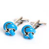 ANGEL AND EVIL SMILEY FACE METAL CUFFLINKS