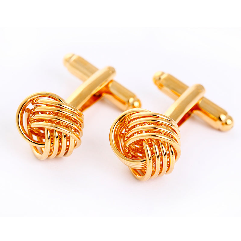 METAL KNOT GOLD CUFFLINKS