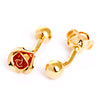 GOLD ROSE CUFFLINKS