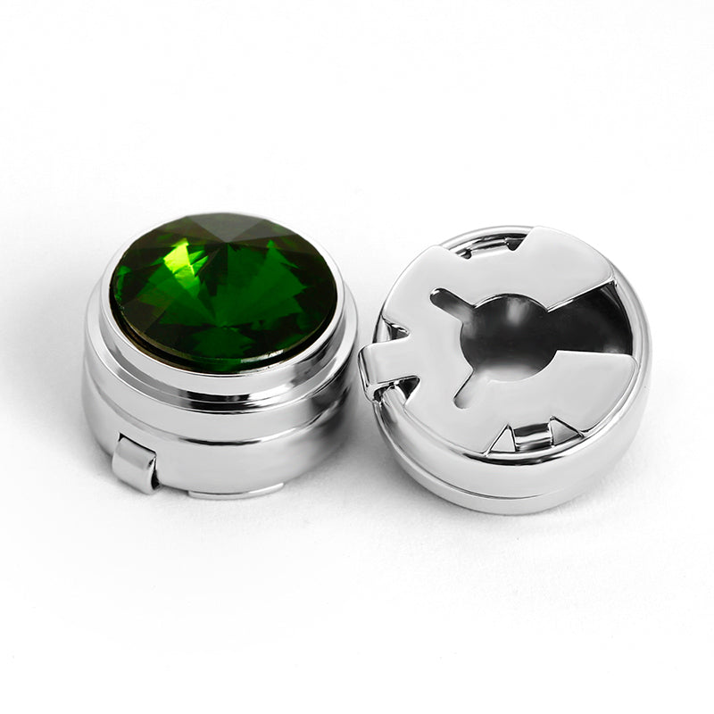 JADE STONE BUTTON COVER CUFFLINKS