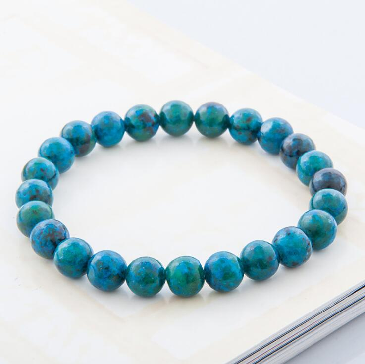 NATURAL STONE TURQUOISE BEADS STRETCH BRACELETS