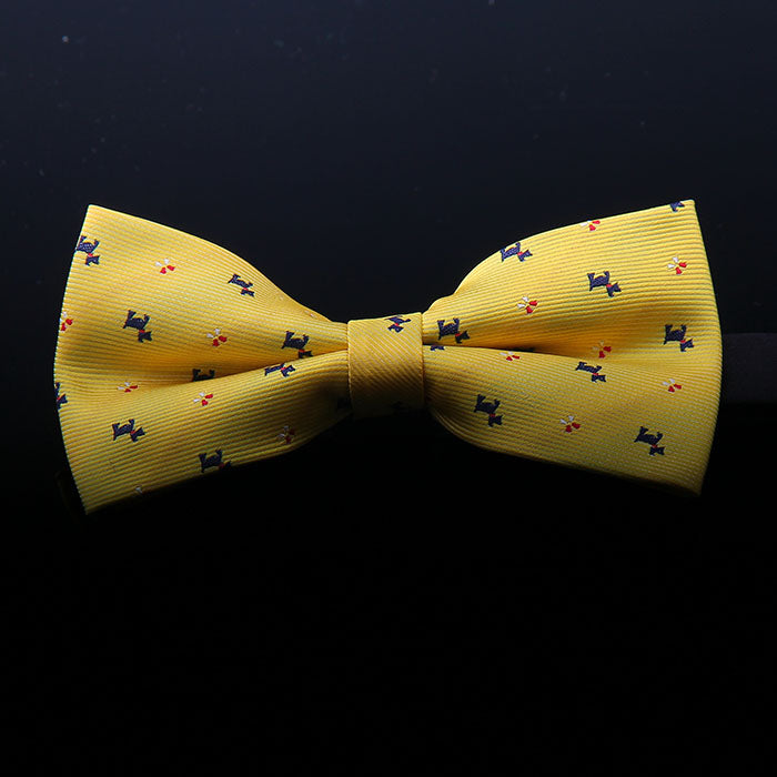 DOGS MOTIF BOW TIES