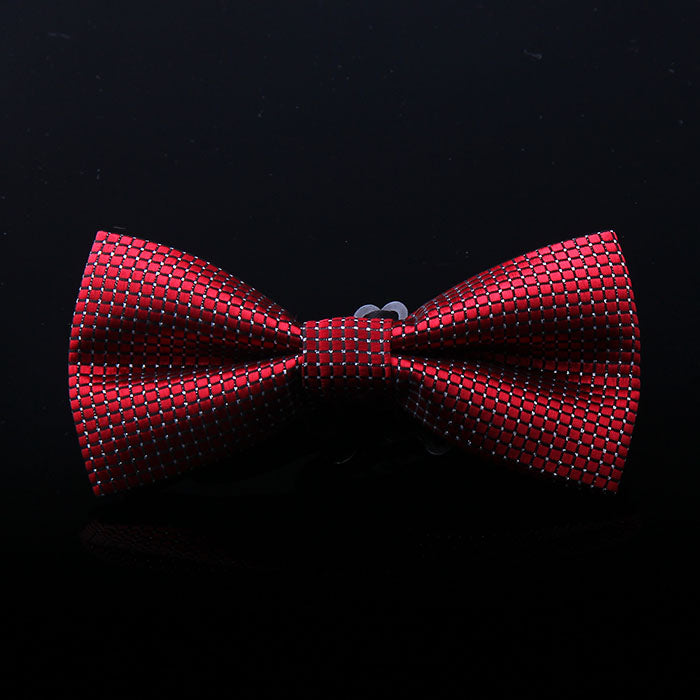 TEXTURED GEOMETRIC BOW TIES