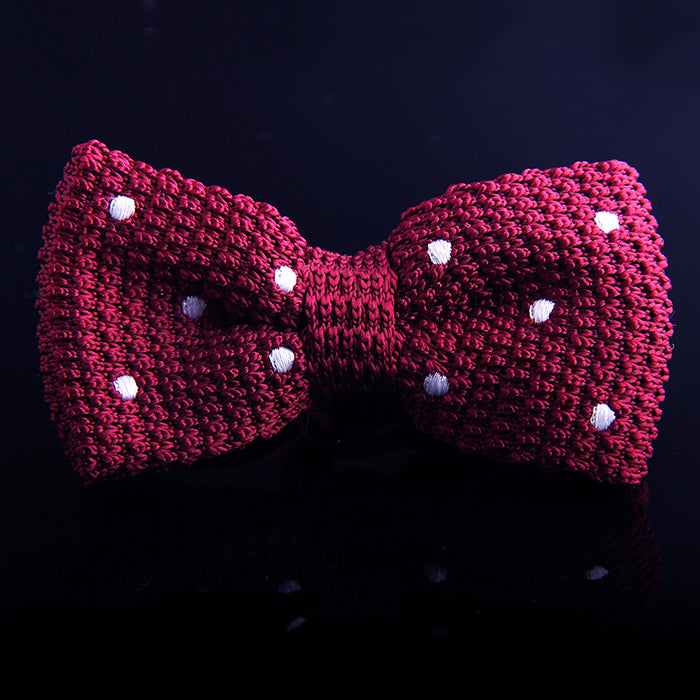 POLKA DOT KNIT BOW TIES