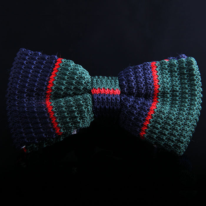 NEPP STRIPE KNIT BOW TIES