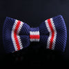 REGIMENTAL STRIPE KNIT BOW TIES