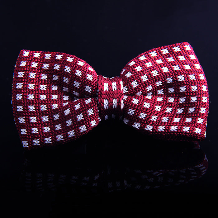 GRID KNIT BOW TIES