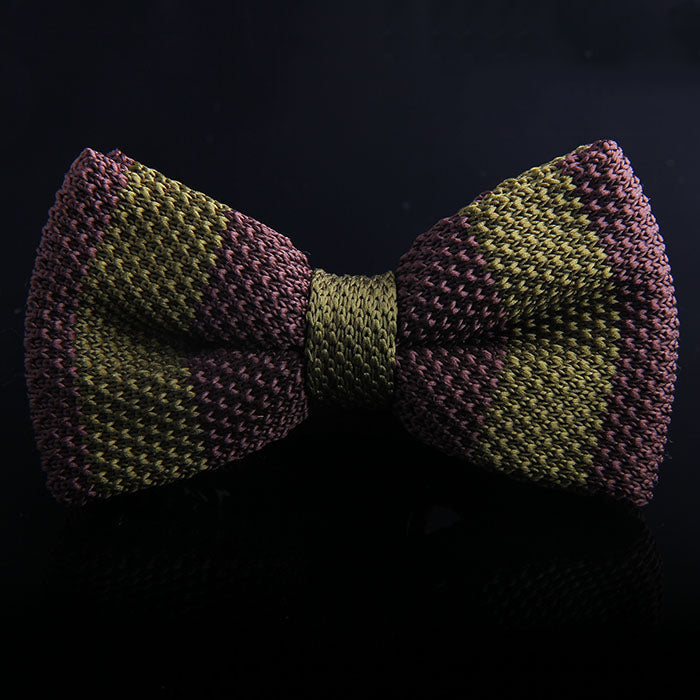 RUGBY STRIPE KNIT BOW TIES