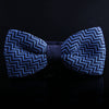 SWISS STRIPE JERSEY KNIT BOW TIES