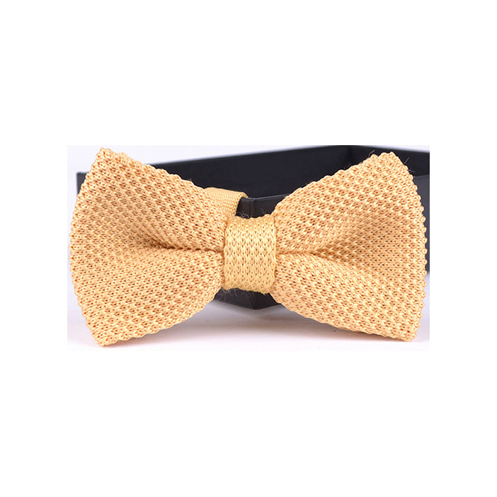 SOLID KNIT BOW TIES