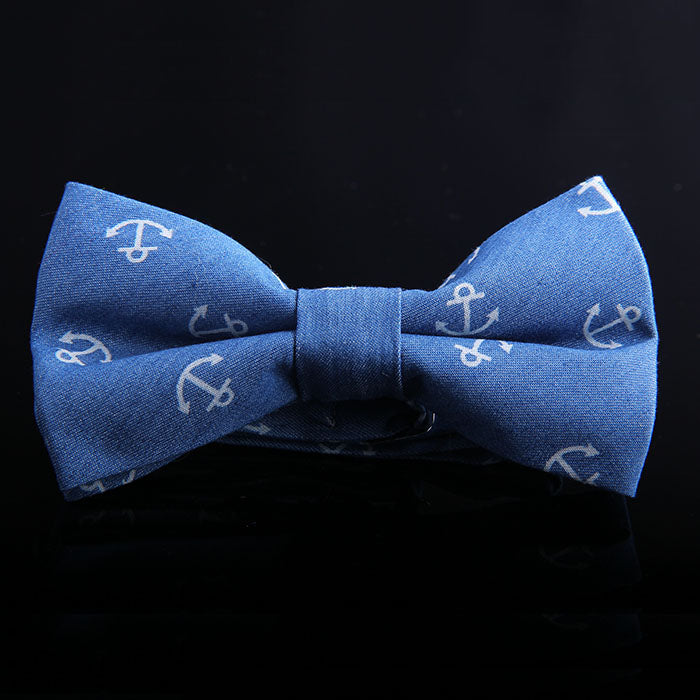 ANCHOR DENIM BOW TIES