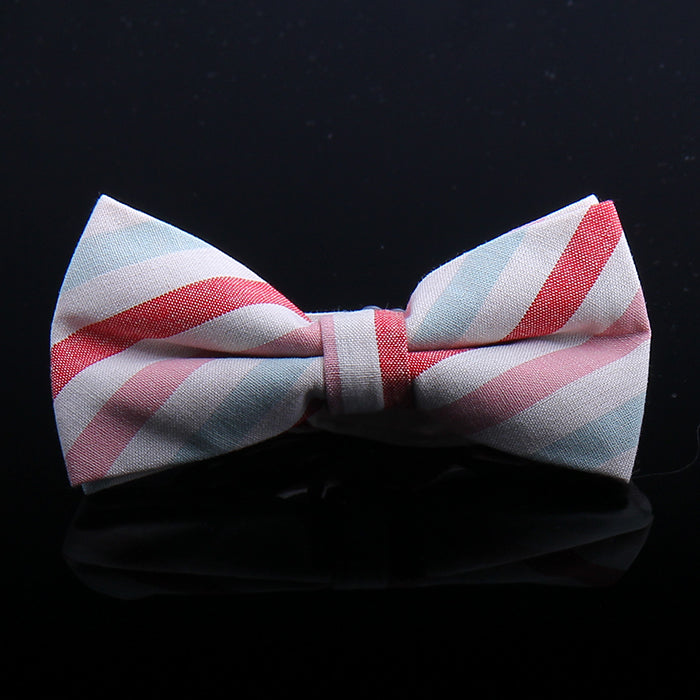 MULTI COLOR AWNING STRIPE BOW TIES
